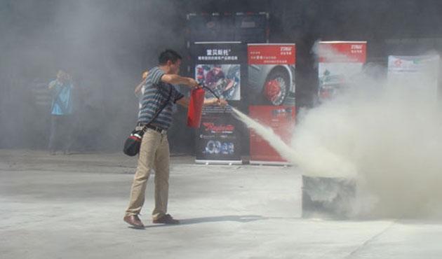 中广物流消防演习